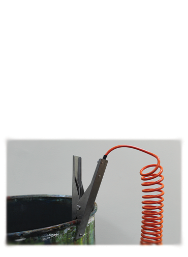 Cen-Sat static grounding clamp application