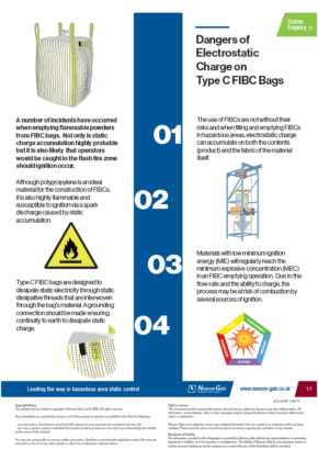 Electrostatic charge on FIBCs infographic