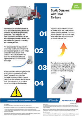 Static charge accumulation infographic