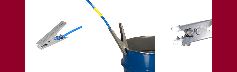 VESX45-IP medium duty intrinsically safe static grounding clamp